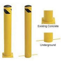 China Steel Bollard With Removable Rubber Cap on sale