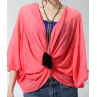 New women lace bat sleeve t-shirt red top NO.MT015-014 RMB:298.00 Manufactures