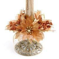 """1"""" Glitter-edged poinsettias candle ring Manufactures"""