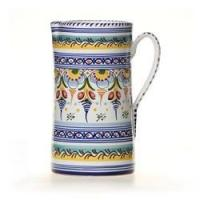 """Spanish Straight Sided Majolica 10"""" Pitcher Manufactures"""