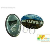 Buy cheap BADGE COMPONETS 70MM OVAL BOTTLE OPENER WITH MAGNETIC from wholesalers