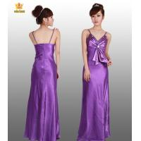 7577# Purple satin evening gowns Manufactures