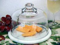 Glass Cheese Dome with Marble Base Manufactures