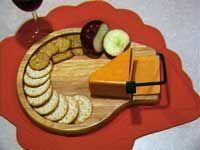 Beechwood Cheese Slicer Serving Tray With Cracker Well Manufactures
