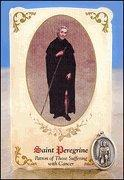 St Peregrine (Cancer) Healing Holy Card with Medal Manufactures