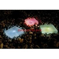 LED Solar Square Glass Plate Light Manufactures