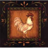 Square Rooster Right - Kim Lewis Manufactures