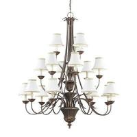 Thomas Lighting M213823 18 Light Pacifica Chandelier, Colonial Bronze Manufactures