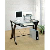 China Glass Top Computer Desk on sale