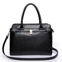 NUCELLE Real Genuine Cow Leather Purse Satchel Tote Black Manufactures