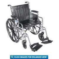"""Drive Medical Chrome Sport Wheelchair with 16"""" Seat Manufactures"""