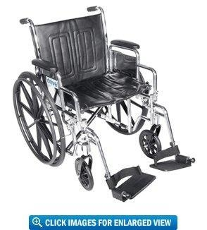 """Quality Drive Medical Chrome Sport Wheelchair with 16"""" Seat for sale"""