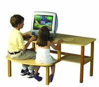 School Computer Desk - Hardrock Maple Buddy Desk Manufactures