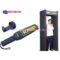 Black Airport portable metal detector Super Handheld Body Scanner with Alarm for dangerous weapons