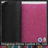Fashion Shoe Leather PU Glitter Fabric Manufactures