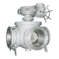 Buy cheap Flange connection four way ball valve from wholesalers