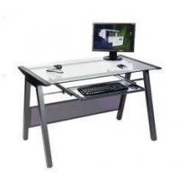 China Square Modern Glass Top Computer Desk For Office / House DX-8806 on sale