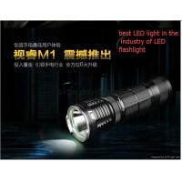 oem logo with 1 battery LED flashlight 1200LUMENS T6063-T6 M1 CREE Manufactures