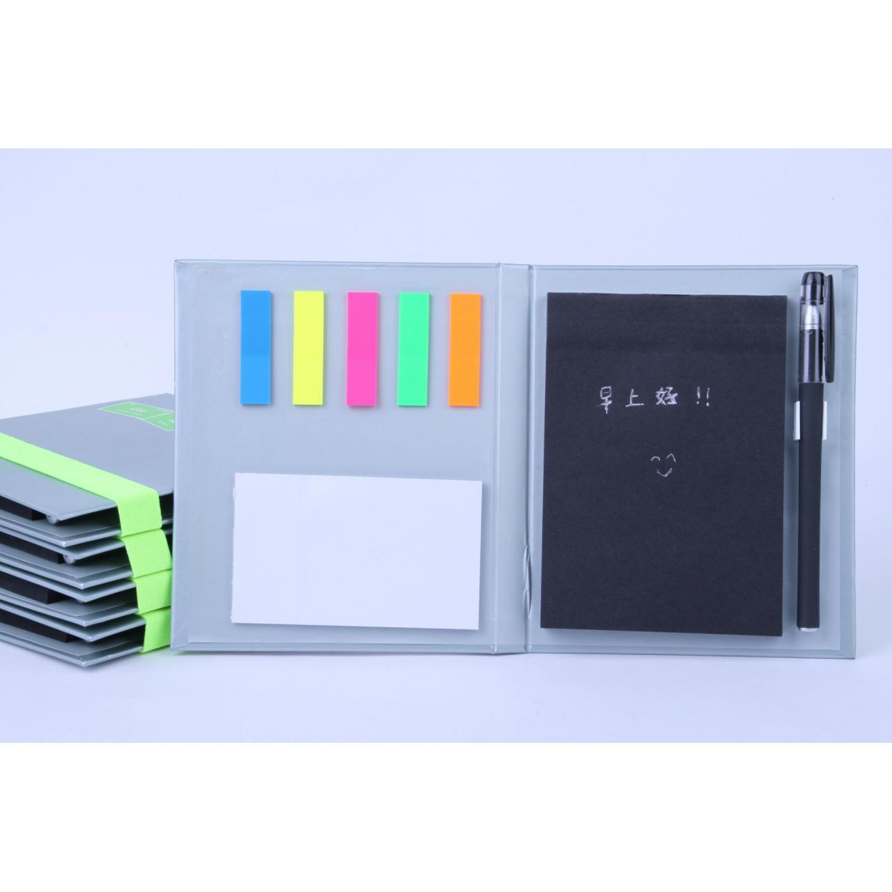 China Office supplies Silver Cover Portfolio Book Memopad and Pen on sale