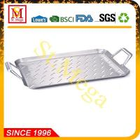 BBQ Grill Topper 17.3 x 11.8-Inch Stainless steel rectangular grid Manufactures