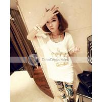 Omiel Round Neck Beading Crown Pattern Short Sleeve Woman T Shirts Manufactures