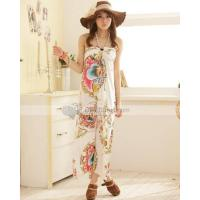 Doclin One Piece Halter Meryl Casual Slim Printing Women Beach Dress Manufactures