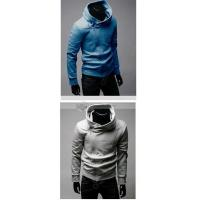 Qooeen Casual Solid Stand Collar Long Sleeves Zippered Cotton Mens Sweatshirt Manufactures