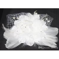 China Wholesale - European Style Hand made Bridal Head Flower with Lace, Fleather and Pearl XT-3007 on sale