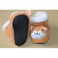 Dog cartoon soft baby prewalker sock shoes Manufactures