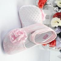 Chic satin girls shoes with lace-BHGB0420 Manufactures