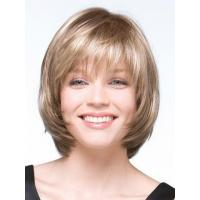 Bob Short Straight Blonde Wig for women Sexy Synthetic hair wigs Full wig with Side bangs Manufactures