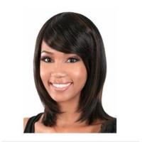 China New Fashion african american short wigs dark brown straight Synthetic hair wig on sale
