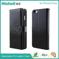 China Detachable wallet leather phone case with Card Slot for iPhone6 Plus on sale