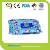 China Alll natural disposable baby wet tissue with GMPC on sale