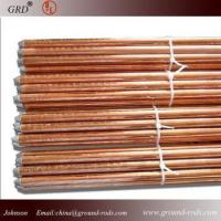 China copper bonded ground rod/copper coated ground rod/copper clad steel ground rod on sale