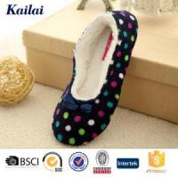 Dance Shoes Printed Coral Fleece Bowknot Dance Shoes Manufactures