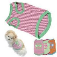 cheap stripe Pet Puppy Summer Shirt Pet Clothes T Shirt with printing Manufactures