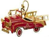 ChemArt Pedal Fire Truck Ornament Manufactures