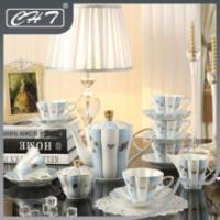 15pcs Royal porcelain coffee set for home Manufactures