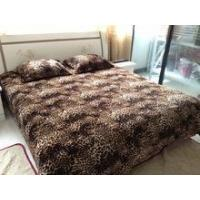 3 pcs bedsheet set 100% polyester animal skin printed flannel Manufactures