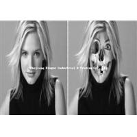 China Wholesale 3D Ghost Skull Skeleton Lenticular Image Album Photo Picture For Halloween Craft Art Prop on sale