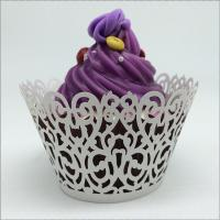 China PAPER CRAFT Lovely heart laser laser cut cupcake wrappers on sale