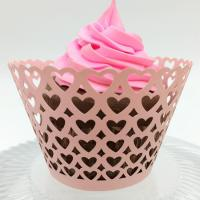China PAPER CRAFT Heart shape wedding laser cut cupcake wrappers on sale