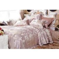 jacquard fabric luxury silk duvet bed sheet enjoy fashion bedding set Manufactures