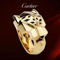 China Cartier PANTHERE Yellow Gold Ring with Tsavorite Garnet Onyx Lacquer Leopard on sale