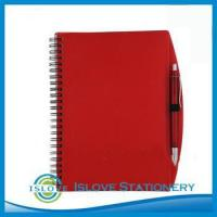 A5 Red PP Cover Spiral book with pen Manufactures