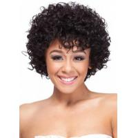 China Lace Front Wigs Short Style Small Curly Indian Virgin Hair Lace Front Wigs on sale