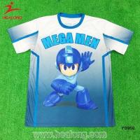 Thai Quality OEM Custom Design O Neck Sublimation Carton Soccer T Tee Shirts Wear Manufactures