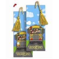 3D Lenticular bookmark Back to school and the wheels on the bus go round and round flip animation Manufactures