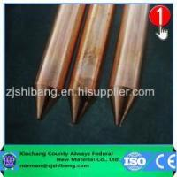 China Copper Clad Steel Earth Rod Products Best Price Pure Copper Ground Rods on sale